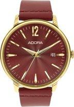 Mooi unisex horloge -rood-van het merk Adora AT5185