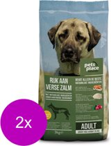 Pets Place Naturals Adult Large Breed Zalm - Hondenvoer - 2 x 3 kg