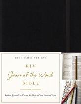 KJV, Journal the Word Bible, Hardcover, Black, Red Letter Edition