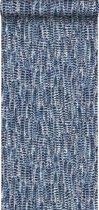 Origin behang veren blauw - 347397