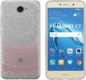 TPU case Mandala print voor Huawei Y7 -Achterkant / backcover