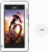 Metalen fullbody hoes voor Sony Xperia XZ1 Compact, Love Mei, metalen extreme protection case, zwart-wit