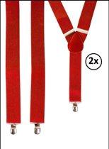 2x Bretel rood luxe