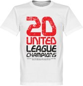 Manchester United 20 League Champions T-Shirt - XXL