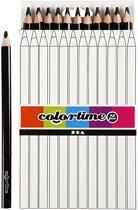Colortime Kleurpotloden, vulling: 5 mm, zwart, Jumbo, 12 stuks