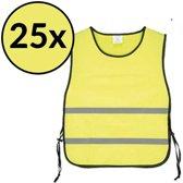veiligheidshesje - veiligheidsvest - hesjes - geel 25x