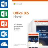 Microsoft Office 365 Home - 1 jaar abonnement (doosje)