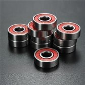 10st ABEC-7 Red verzegeld diepe Groove Skateboard kogellager 608RS 9x22x6mm Ball Bearing
