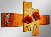 Poppy - Canvas Schilderij Vierluik 160 x 70 cm