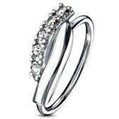 Neus piercing hoop ring twisted wit ©LMPiercings