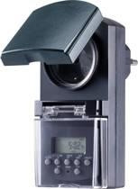 Stopcontact-schakelklok Digitaal Weekprogramma 1800 W IP44 Countdown-functie, Toevalsfunctie Basetech BT-2106308