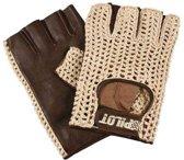 Autohandschoenen zonder vingers  Large - racehandschoenen bruin