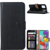 Samsung Galaxy A51 Hoesje Zwart met Pasjeshouder