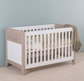 Bebies First - Babykamer Boston - Ledikant - Wit - Grijs