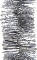 3x Kerstboom folie slinger zilver 270 cm - zilveren kerstslingers