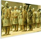 Aziatische Terracotta strijders in de Chinese stad Xi'an Plexiglas 180x120 cm - Foto print op Glas (Plexiglas wanddecoratie) XXL / Groot formaat!