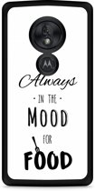 Motorola Moto G7 Play Hardcase hoesje Mood for Food Black
