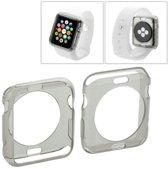 Apple Watch 42mm - hoesje, case, frontje transparant TPU - Grijs