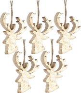 Kerstboomhanger Hert Gold (8 cm) 5 Stuks