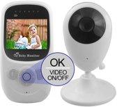 Avonturiers Video Babyfoon (2018 nieuw type) -Draadloze babyfoon Baby-bewakingscamera met2.4''LCD-scherm Tweerichtingsverkeer Nachtzicht Temperatuurbewaking en lange afstand voor uw baby