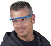 Kinzo nylon veiligheidsbril/vuurwerkbril voor volwassenen - beschermbril