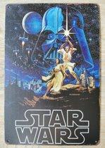 Wandbord Star Wars Metaal Muur Decoratie Emaille Vintage Retro Tekst Metalen Reclame Bord - Metal Tin Sign - Vitch!™