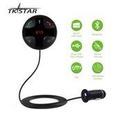 TKSTAR Auto Audio Bluetooth FM Zender Handenvrij USB-poort Charger Carkit Adapter Zwart