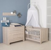 Bebies First - Babykamer Nevada - 2-delige - Ledikant - Commode - Grijs