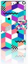 Sony Xperia X Boekhoesje Design Blocks Colorful