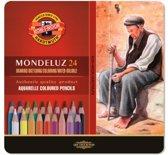 Aquarelpotloden Koh-i-Noor Mondeluz, 24 st. incl. CR penseel