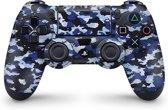 Playstation 4 Controller Skin Camo Blauw- PS4 Controller Sticker