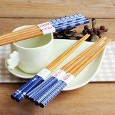 Chopsticks - Bamboe - 5 paar - Blauw