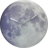 NeXtime Blue MoonGlow in the Dark - Klok - Rond - Glas - Ø30 cm - Multi