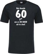 Mijncadeautje - Leeftijd T-shirt - Het duurde 60 jaar - Unisex - Zwart (maat XL)