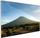 FotoCadeau.nl - Een vulkaan op Bali Glas 30x20 cm - Foto print op Glas (Plexiglas wanddecoratie)