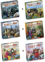 Spel - Ticket to Ride - Ultieme Uitbreidingsset - Map Collection 6 stuks