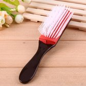 Best Bristle haarborstel stylingborstel rood bruin - styling - krullen - kroeshaar - definieren - borstel - Kunststof - GRATIS VERZENDING