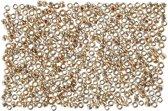 Rocailles, afm 15/0 , d: 1,7 mm, rosé goud, 25gr, gatgrootte 0,5-0,8 mm