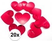 20x mega confetti rode hartjes - Valentijn / Bruiloft confetti