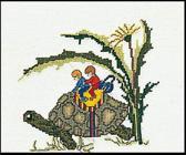 Thea Gouverneur Borduurpakket 1042 Schildpad - Linnen stof