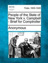 People of the State of New York V. Campbell - Brief for Comptroller