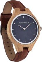 De officiële WoodWatch   Blue Ocean Pecan   Houten horloge dames