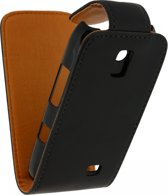 Xccess Leather Flip Case Nokia Asha 310 Black