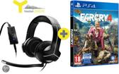 Y-250CPX Wired Stereo Gaming Headset - Zwart (PS3 + PS4 + PC + Xbox360) + Far Cry 4 PS4 Bundel