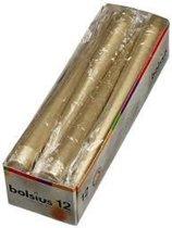 Bolsius gotische kaars goud 12 stuks 1 doos met 4 verpakkingen