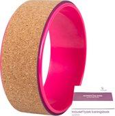 JAP Sports - Yoga Wiel – Fitness en Yoga Wheel - [Pro Series] Uiterst geschikt voor het dragen van lichaamsgewichten (250kg) - 33 x 13 cm – Kurk Roze