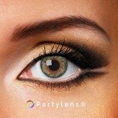 Kleurlenzen 'Twist Green' jaarlenzen inclusief lenzendoosje - groene contactlenzen Partylens®