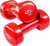 TecTake - set van 2 halters , 2 x 3,0 kilogram - rood - 402360