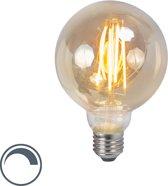 LUEDD LED filament lamp E27 5W 2200K G95 smoke dimbaar