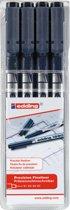 Edding 1880 Drawliner 4 stuks 0.1/0.3/0.5/0.7mm